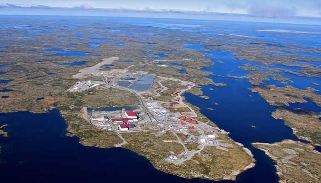 מכרה סנפ לייק של קנדה, תמונה אווירית