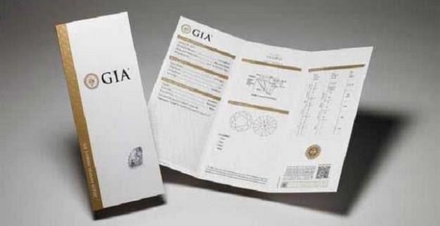 תעודה גמולוגית של ה-GIA