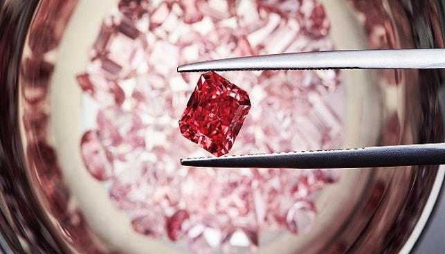 יהלום אדום יהלומים ורודים