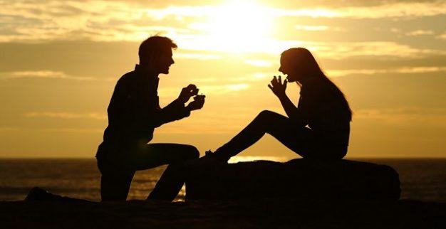 הצעת נישואין זוג שקיעה