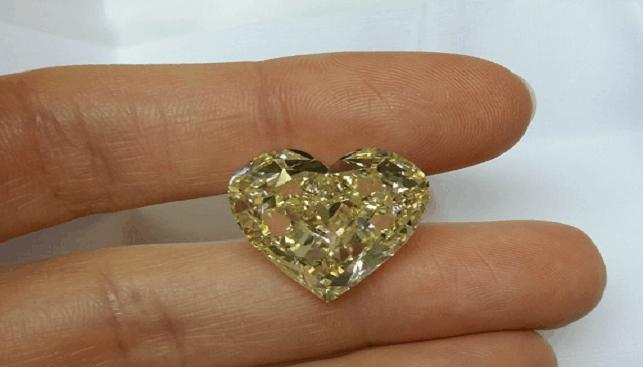 יהלום בליטוש לב של ריג'נט
