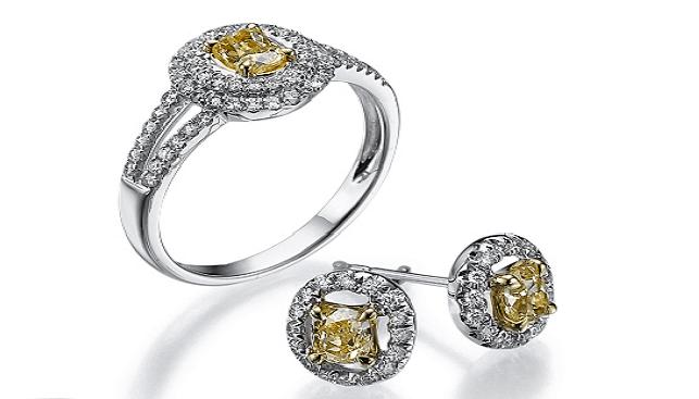 תכשיטי יהלומים צהובים של Kristal Diamonds
