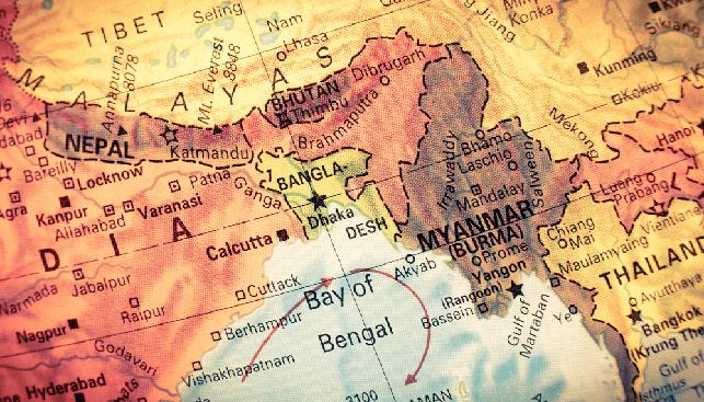 בנגלדש מפה