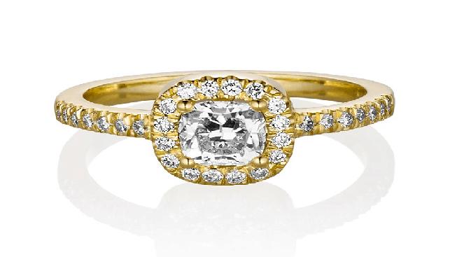 טבעת סוליטר שכטר יהלומים