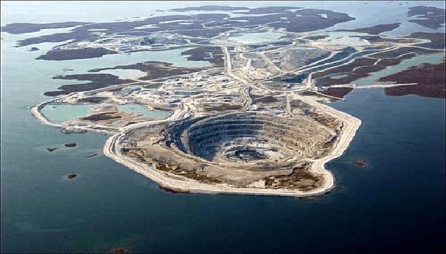 מכרה היהלומים דיאביק של ריו טינטו בקנדה
