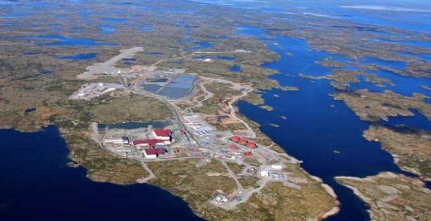מכרה סנפ לייק של דה בירס קנדה תמונה אווירית