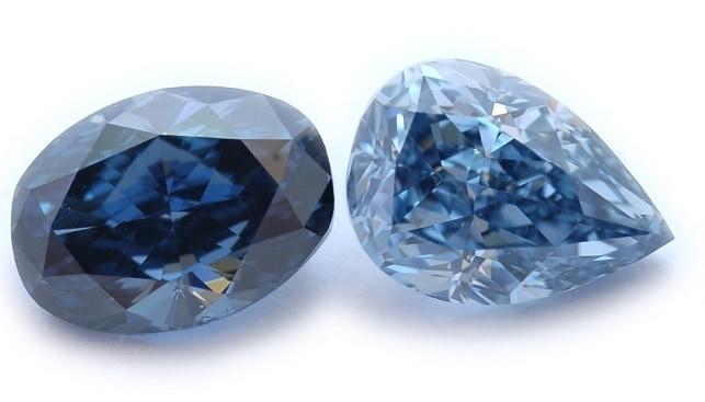 יהלומים כחולים מלוטשים