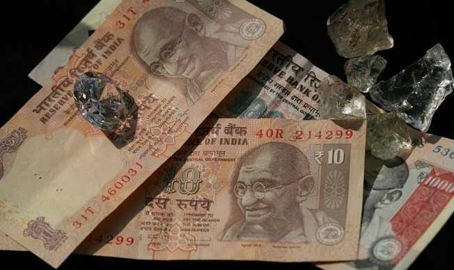 שטר הודי הודו רופי יהלומים