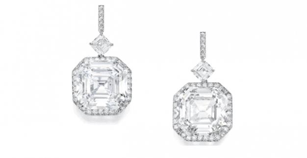 עגילי יהלומים ופלטינה