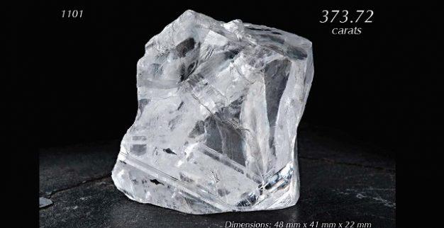 יהלום גלם במשקל 373.72 קרט של גראף