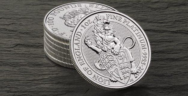 מטבע הפלטינה הראשון של The Royal Mint