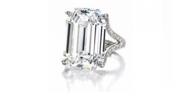 טבעת יהלום מכירה פומבית