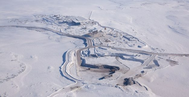 מכרה יהלומים גאצ'ו קיו בקנדה בשלג
