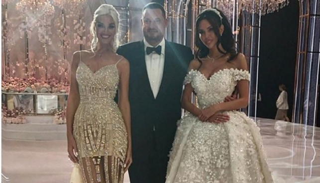 אוליגרך רוסי שמלת חתונה