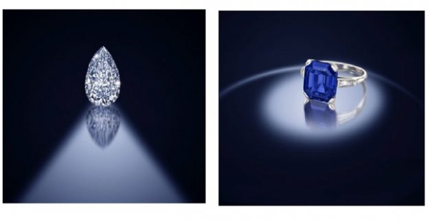 טבעת יהלום כחול אפור