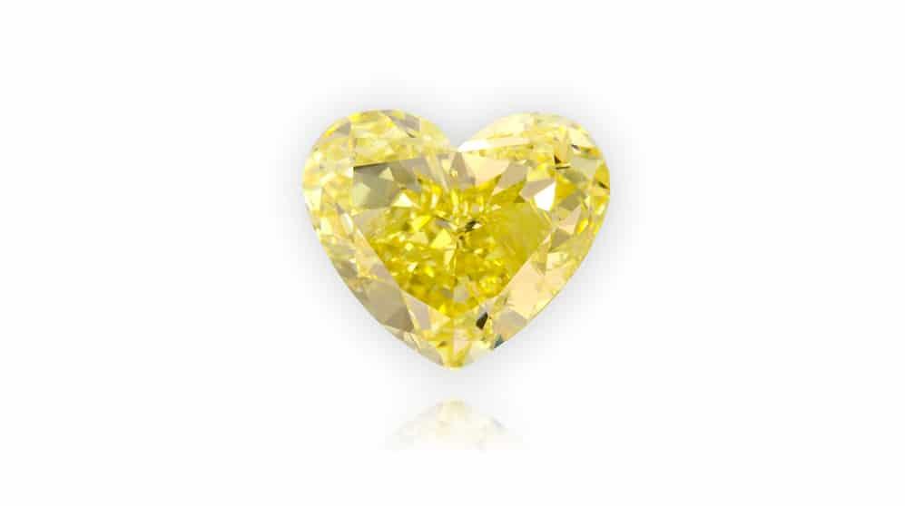 יהלום צהוב בליטוש לב