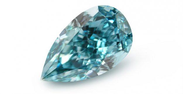 יהלום כחול ליטוש טיפה