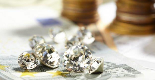 יהלומים עגולים מלוטשים כסף