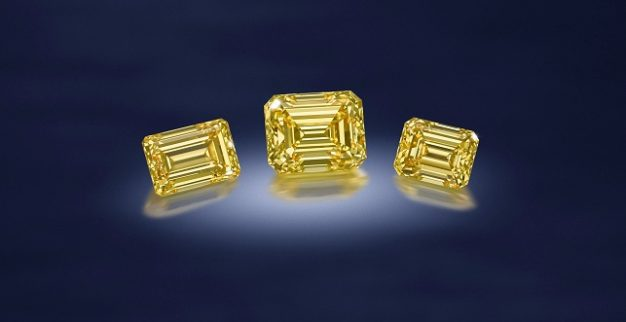 יהלומים צהובים פנסי ויויד