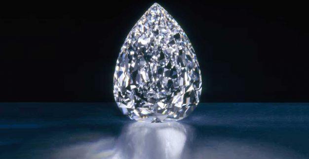 יהלום כוכב המילניום של דה בירס ליטוש אגס ליטוש טיפה