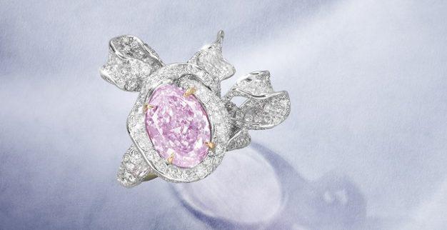 טבעת יהלום פנסי ורוד