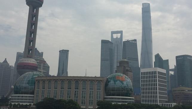 שנחאי סין נוף בניינים