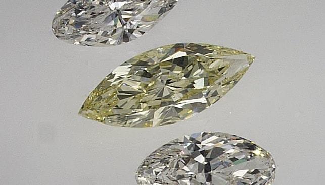 יהלומים מלוטשים לבנים צהובים