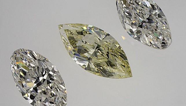 יהלומים מלוטשים לבנים צהובים יהלום מרקיזה