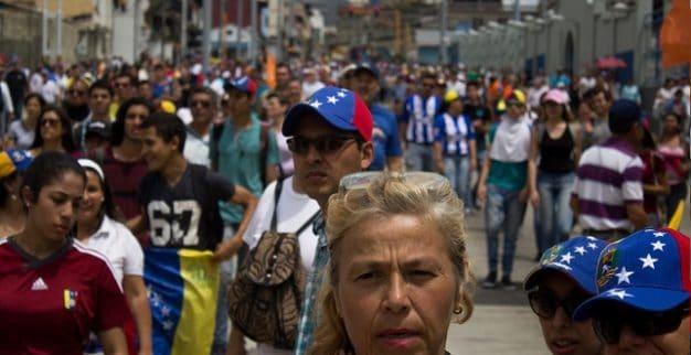 ונצואלה תושבים הפגנה