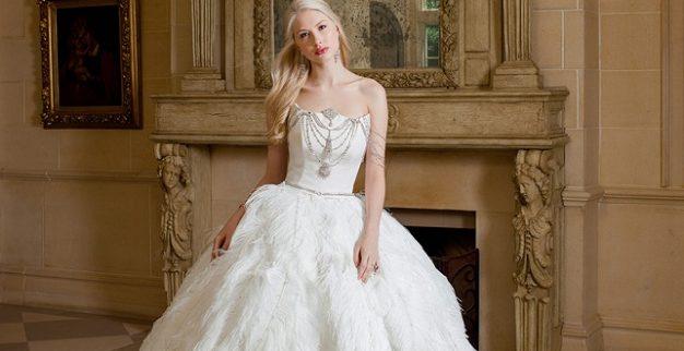 שמלת כלה נישואין יהלומים
