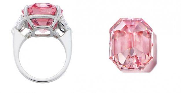 טבעת יהלום ורוד כריסטי'ס