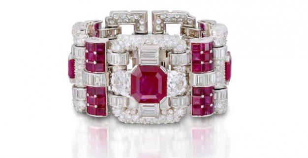 טבעת רובי יהלומים
