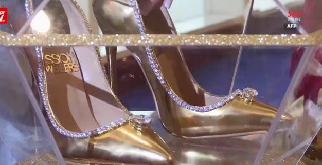 נעליים זהב יהלומים