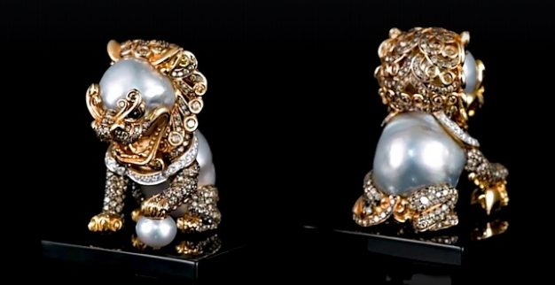 אריות סין זהב יהלומים