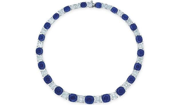 שרשרת יהלומים ספיר כריסטי'ס