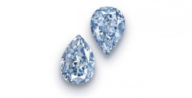 זוג יהלומים כחולים כריסטי'ס