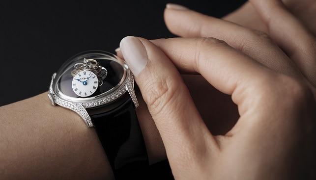 שעון נשים יהלומים MB&F