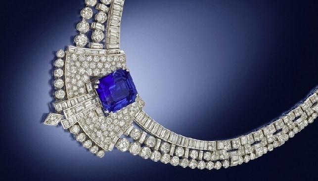 שרשרת יהלומים ספיר Grassy