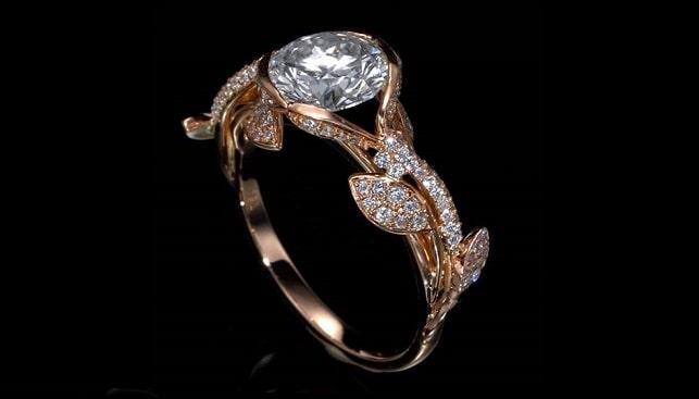 טבעת אירוסין יהלומים סטטיק