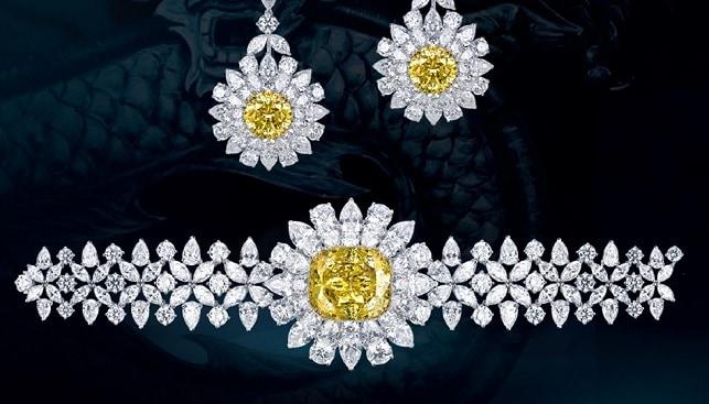 תכשיטי יהלומים צהובים Mouawad