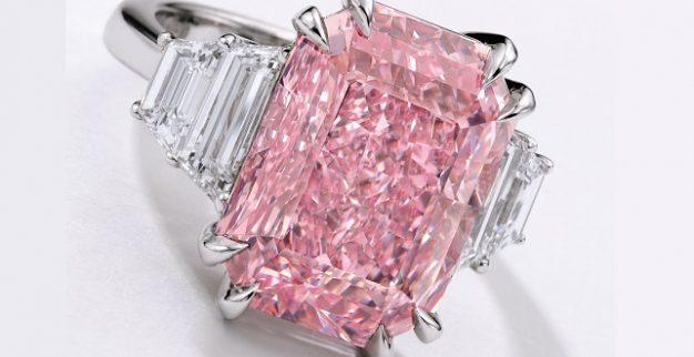 טבעת יהלום ורוד סגלגל