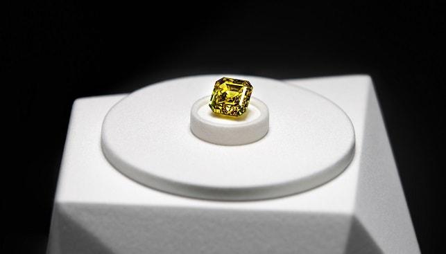 גראף יהלום צהוב אלרוסה