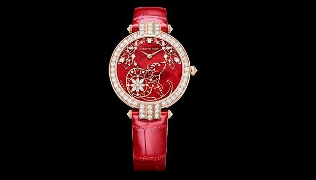 הארי ווינסטון שעון יהלומים לרגל שנת העכבר הסינית