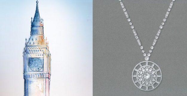 תכשיטי יהלומים של דה בירס במוטיב של לונדון