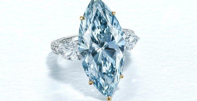 טבעת יהלום כחול כריסטי'ס
