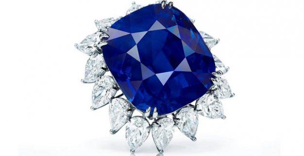 אבן ספיר כחולה במשקל 119 קרט, סותביס