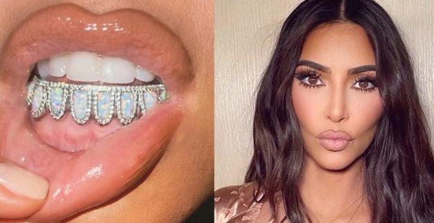 קים קרדשיאן יהלומים גשר בשיניים