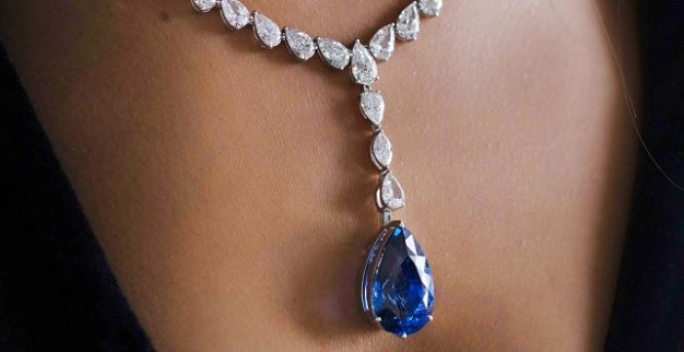blue gem diamonds necklace