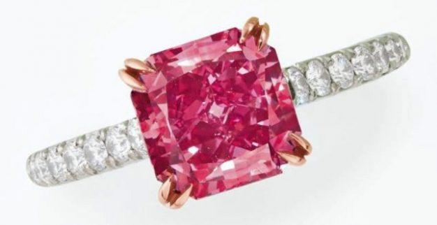 טבעת יהלום ורוד כריסטיס