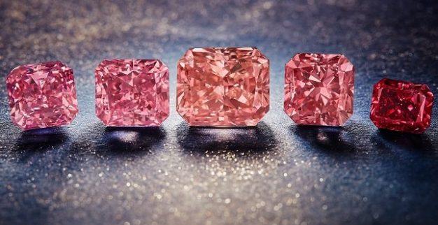 ארגייל יהלומים ורודים אדומים